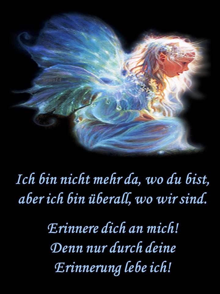 Grafik Engel mit Spruch