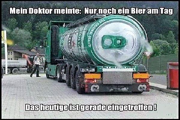 Lastzug mit Bierlieferung