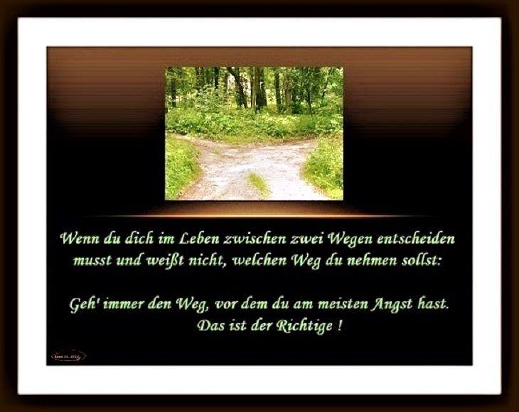 """Spruch """"Wegewah""""l"""