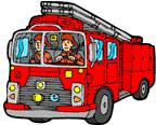 Feuerwehr bei Brandbekämpfung
