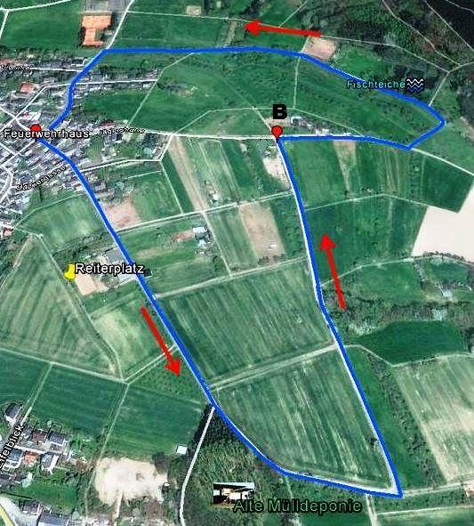 Skizze Wanderweg 2, Melsbach