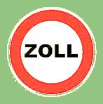 "Grafik Schild ""Zoll"""