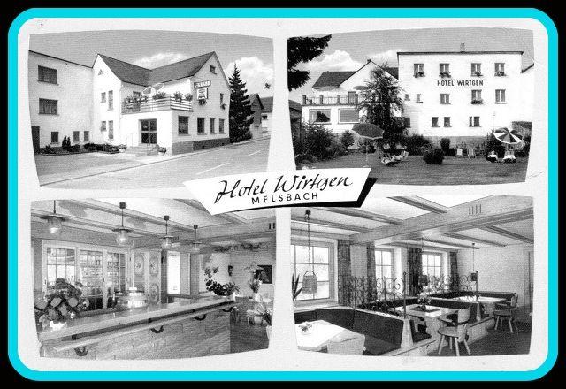 Postkartenabdruck des alten Hotels Wirtgen