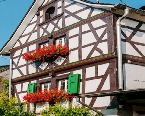 Ältestes Haus in Melsbach, erbaut 1719
