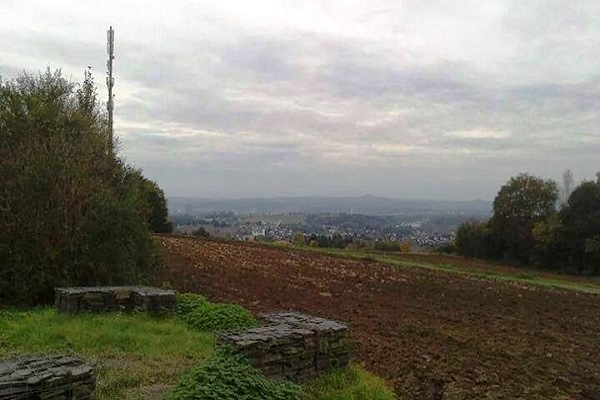 Blick ins bewölkte Rheintal