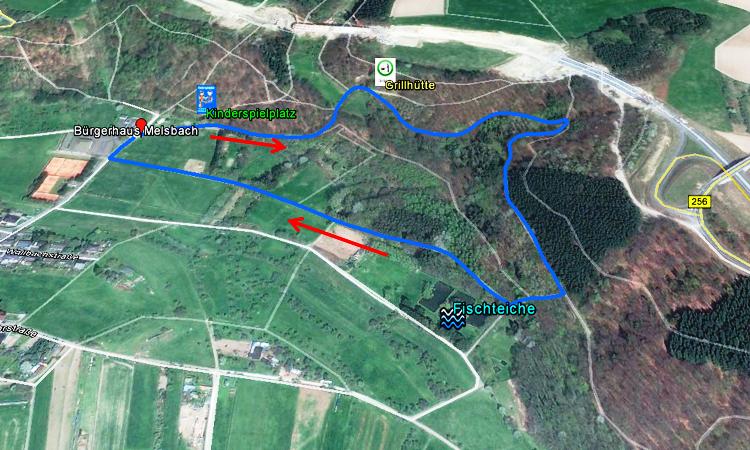Skizze Wanderweg 1, Melsbach