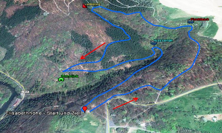 Skizze Wanderweg 3, Melsbach
