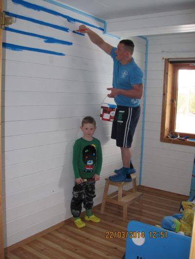 4 sachsen in norge - neuer fussboden fuer die kinderzimmer - Kinderzimmer Wand Blau