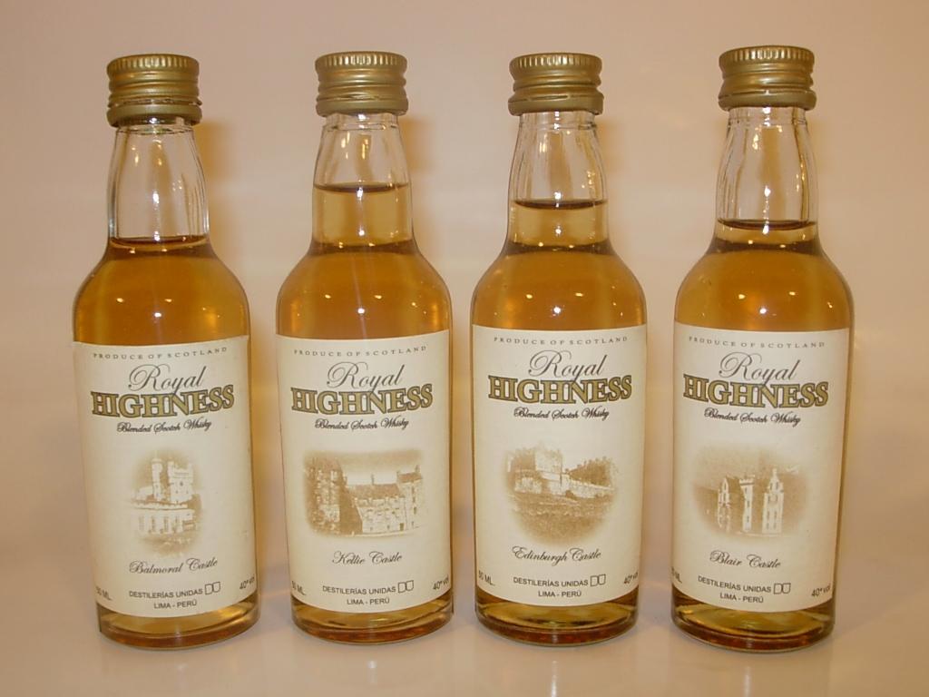 Whisky Highness envasado en Peru click para tamaño completo