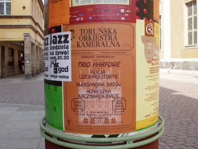 Plakat Trio Taratto w składzie: flet, altówka, harfa