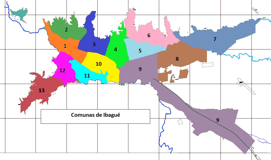 MONUMENTOS DE IBAGUE IBAGUE MAPAS DE COMUNAS