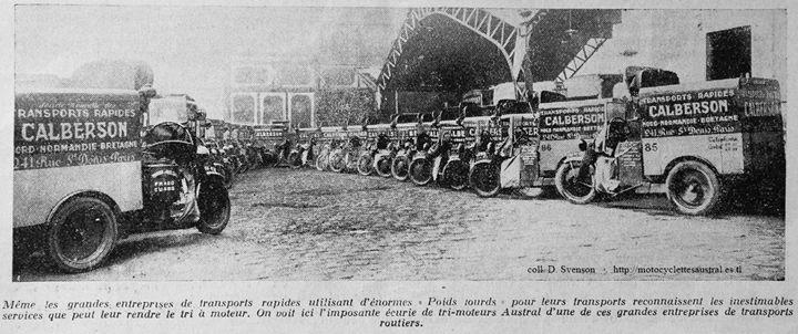 lla flotte de trimoteurs Austral de l'entreprise de transport Calberson