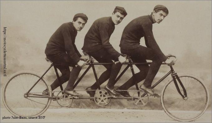 les frères Dacier sur une triplette d'entraîneur en 1894