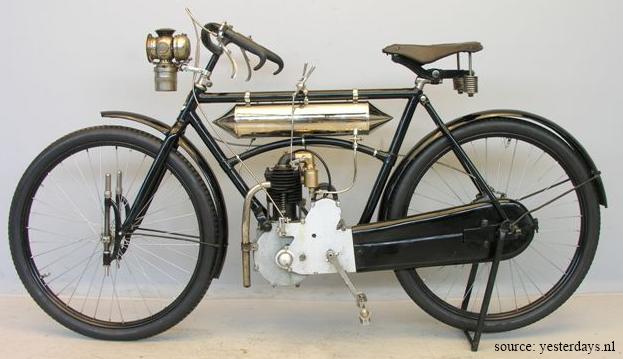 motocyclette Rochet type MI, 1906, côté gauche