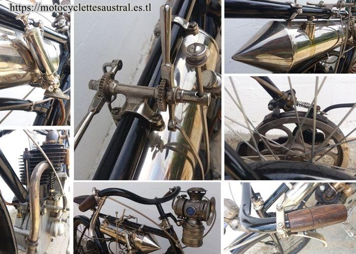 détails de la motocyclette Rochet MI, 1906