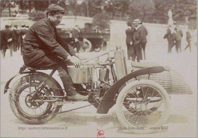 Paris-Tourcoing, Thomas Schweitzer sur tricar Austral, 1906