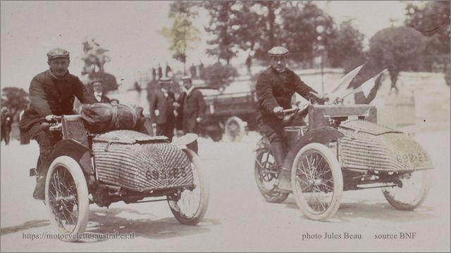 Paris-Tourcoing 1906, tricars Austral