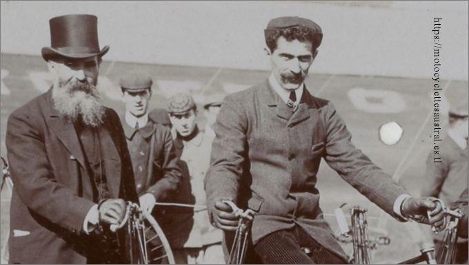 Pierre Dacier et son père en 1906
