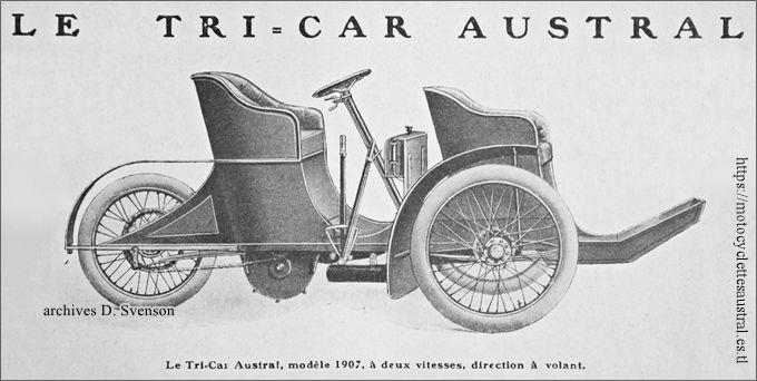 Tricar Austral type G 1906 / 1907