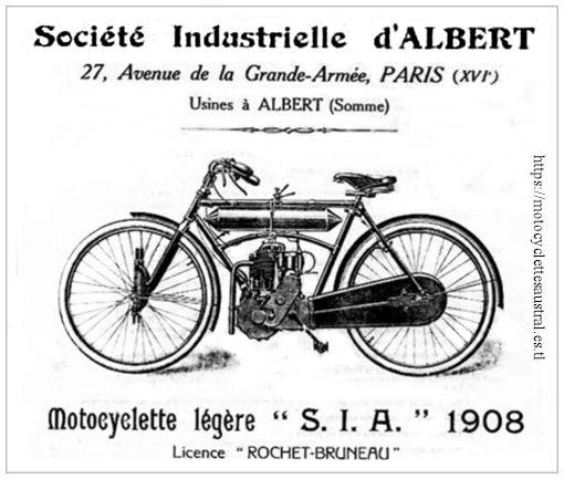 motocyclette légère SIA 1908, licence Rochet-Bruneau