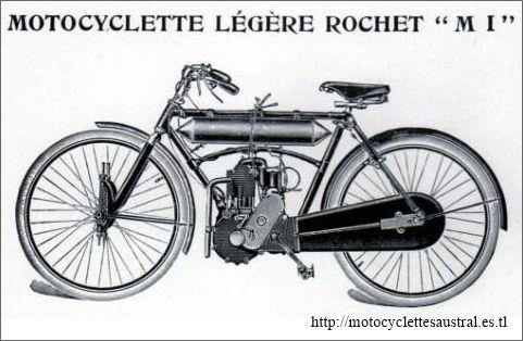motocyclette Rochet type MI 1910