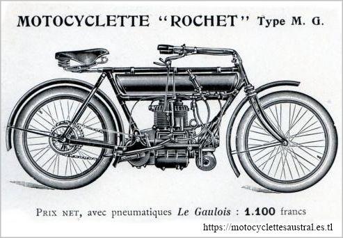 moto Rochet type MG, 1910