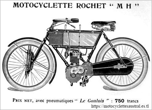 motocyclette légère Rochet tye MH, 1910