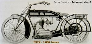 Austral motocyclette 3 1-2 HP, 1914