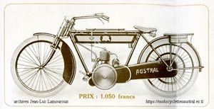moto Austral 1914, transmission par chaîne