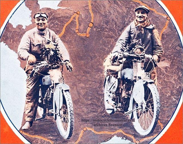 Etienne Cheret et Raoul de Rovin, vainqueurs du Tour de France 1924 sur Rovin