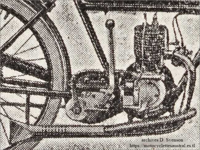 moteur de la moto Austral type B25, 1925