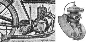moteur de la moto Austral type B-25 et moteur LMP 2T 175cmc