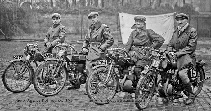 Chéret et l'équipe Prester, pesage pour Paris-Nice 1926