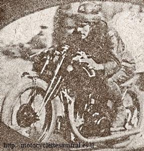motocycliste Flahaut en 1928