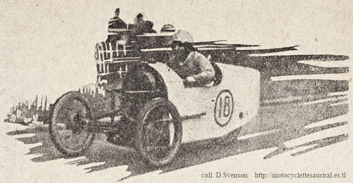 Etienne Chéret dans le Zed LMP Austral cyclecar à Montlhéry 1928