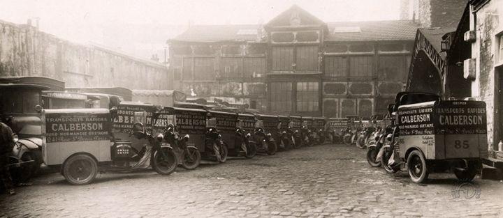 la flotte de camionnettes Austral de l'entreprise Calberson. (F-M Dumas)