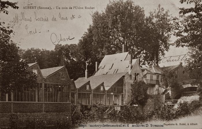 usine de la Société Industrielle d'Albert. côté jardin public