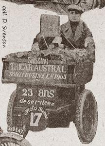 Gohier sur tricar Austral 1905 au concours des tricars 1928