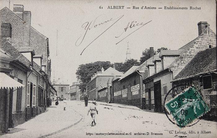 usine de la Société Industrielle d'Albert. façade Rue d'Amiens