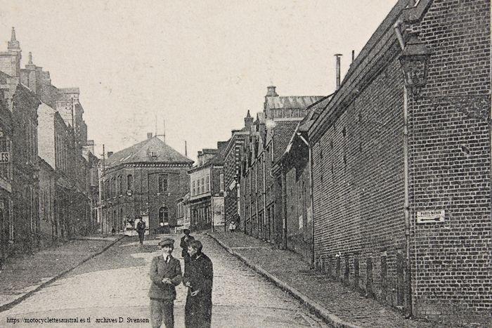 usine de la Société Industrielle d'Albert. façade Rue d'Amiens. 3e phase de construction