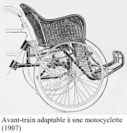 avant-train Alcyon adaptable à une moto