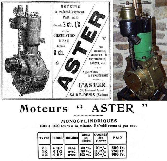 moteur Aster refroidi par eau
