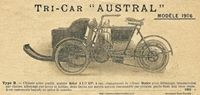 documentation Austral, tri-car, 1906