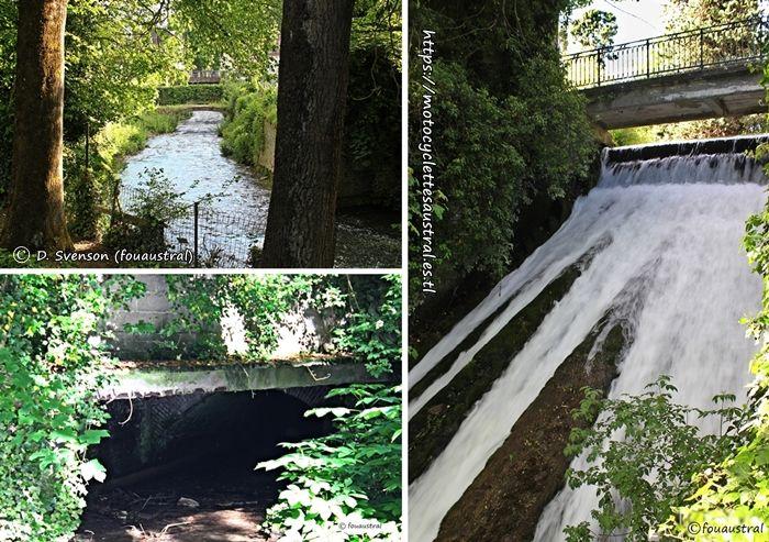 S.I.A.: rivière Ancre et la cascade à Albert en 2017, trois vues. Photos prises par l'auteur en 2017, tous droits réservés
