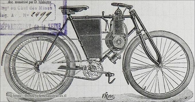 "motocyclette ""Albert Jean"", environ 1901-1902"