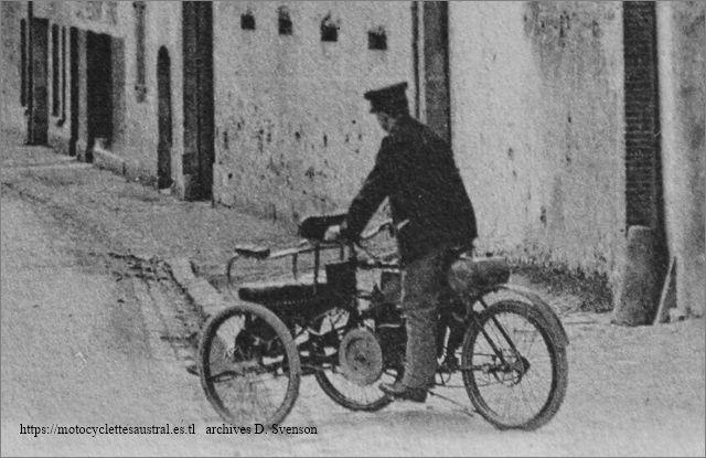mototricycle Albert-Jean, vue arrière