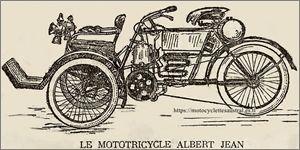 Le mototricycle Albert-Jean, dessin