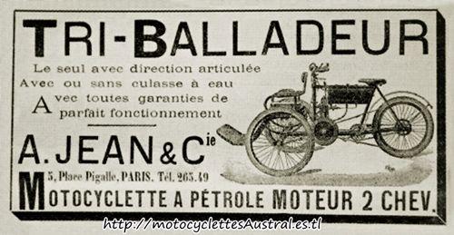 publicité ancienne, le Tri-Balladeur Albert Jean, dessin
