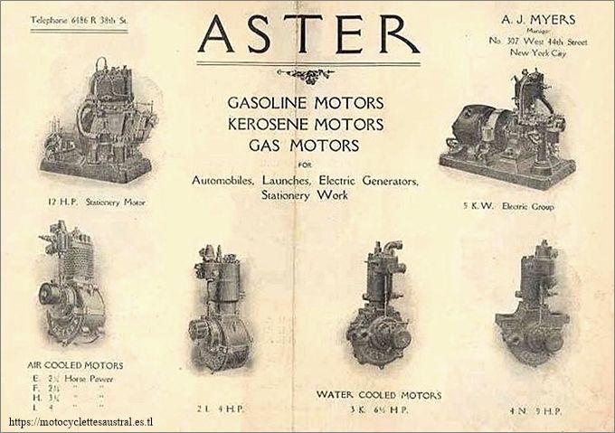 prospectus américaine, moteurs Aster