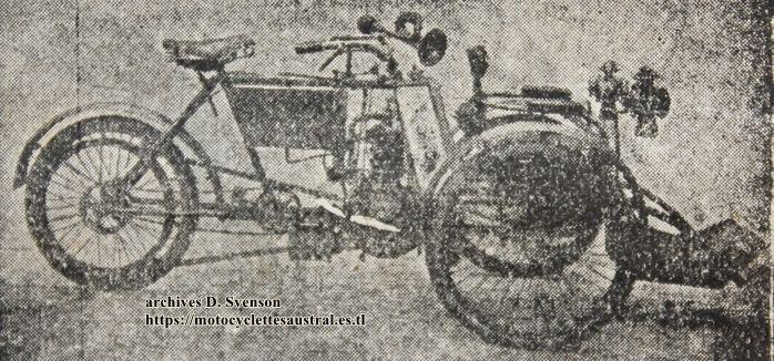 tricar Austral 1904 modèle Touriste - Livreur